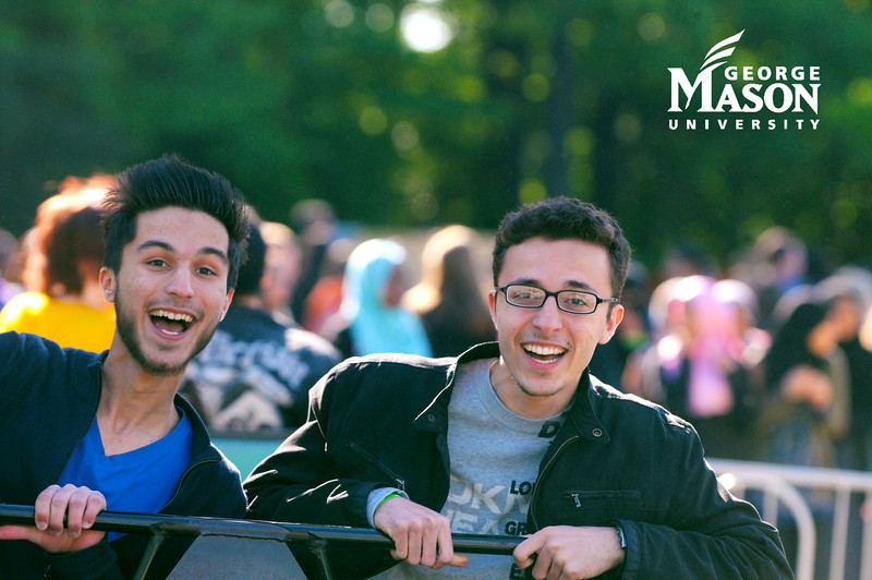 Students enjoy Mason Day on the Fairfax campus. Photo by Evan Cantwell/Creative Services/George Mason University