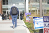 Student orginizations promote voting around Fairfax Campus on election day.