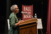 Author Alice Walker speaks during a Fall for the Book event at the Center for the Arts at Fairfax campus. Photo by Alexis Glenn/Creative Services/George Mason University