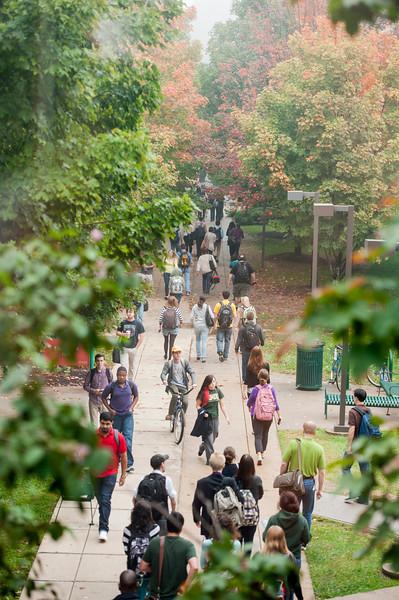 Students at Fairfax campus. Photo by Alexis Glenn/Creative Services/George Mason University