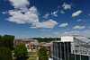 View of Southside Dining and Rappahannock neighborhood. Photo by Evan Cantwell/Creative Services/George Mason University