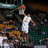 George Mason Patriots forward Jalen Jenkins (31) dunks in the second half against the Fordham Rams at the Patriot Center. Photo by Craig Bisacre/Creative Services/George Mason University