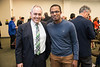 President Cabrera and Andre Allen.  Photo by:  Ron Aira/Creative Services/George Mason University