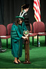 Professor Toni-Michelle Travis places the Mace at the Installation Ceremony of the Inauguration of Ángel Cabrera at the Patriot Center. Photo by Craig Bisacre/Creative Services/George Mason University