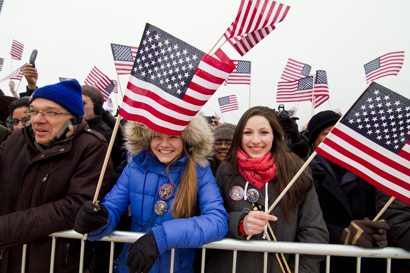 George Mason students attend the 57th Presidental Inaugeration