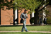 A student uses his cell phone at Fairfax campus. Photo by Alexis Glenn/Creative Services/George Mason University