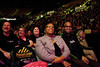 Attendees laugh as comedian Keith Robinson performs before comedian Wanda Sykes at the Patriot Center, Fairfax Campus