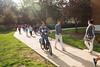 China 1+2+1 students walk together at Fairfax campus. Photo by Alexis Glenn/Creative Services/George Mason University