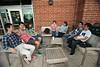 China 1+2+1 students socialize at Starbucks at Fairfax campus. Photo by Alexis Glenn/Creative Services/George Mason University