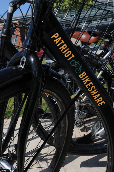 A Patriot Bikeshare bike.