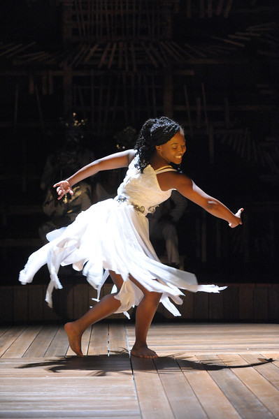 Olney Theatre Center presents ONCE ON THIS ISLAND, now playing, with Aisha Jackson as Ti Moune.<br /> <br /> Photo by Stan Barouh