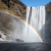 Rainbow and waterfall in Iceland