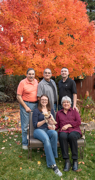 The Valenti family in our backyard this past Thanksgiving