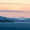 A moody sunset along the Alaska coast line