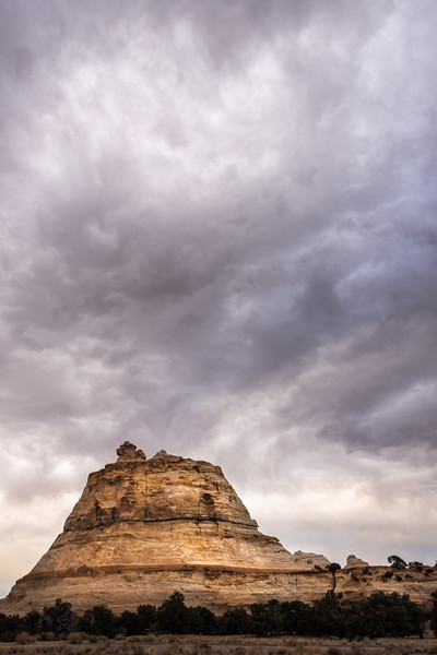 Brooding clouds over Utah mountain