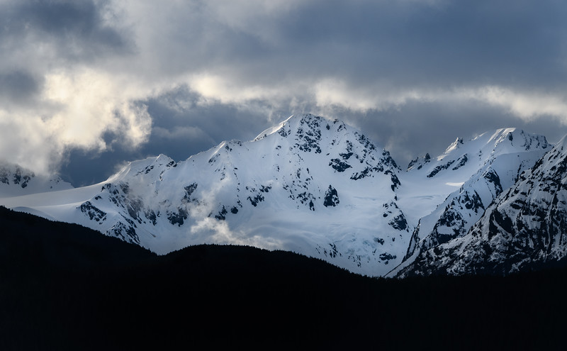 The majesty of the Alaskan mountains