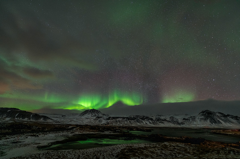 Northern Light show - Iceland