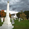 Rising Storm  over Cemetery & Church along Hwy 100 - Moretown, VT