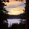 Winter Sunset over Soda Springs Lake
