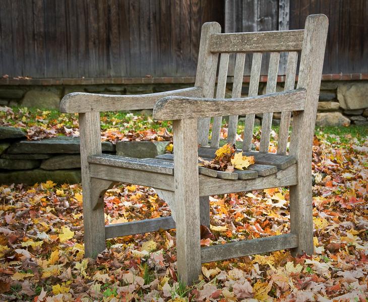 Fall Leaves & Chair - Grafton, VT