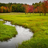 Meandering Creek in Field - Hwy 109 - Moultonboro, NH
