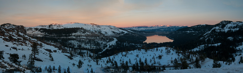 Panorama Donner Lake Overlook