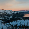 Panorama Donner Lake Overlook