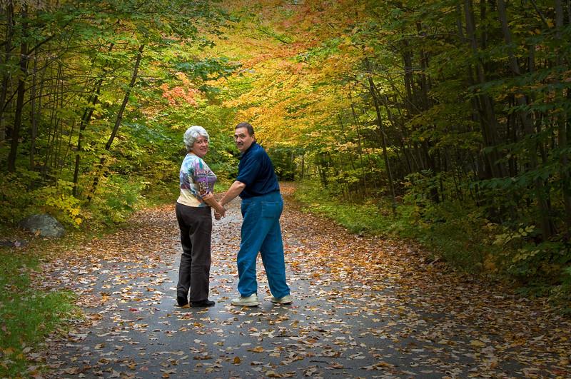 Mimi & Richard - Fall Leaves - White Mountain, NH