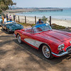 A 1960 Corvette is contrasted against the pier in San Simeon.The Dream Drive celebrates the reopening of Highway 1, CaliforniaÕs most epic road trip, with a convoy of classic cars driving from Monterey to Morro Bay on Thursday, August 9, 2018.