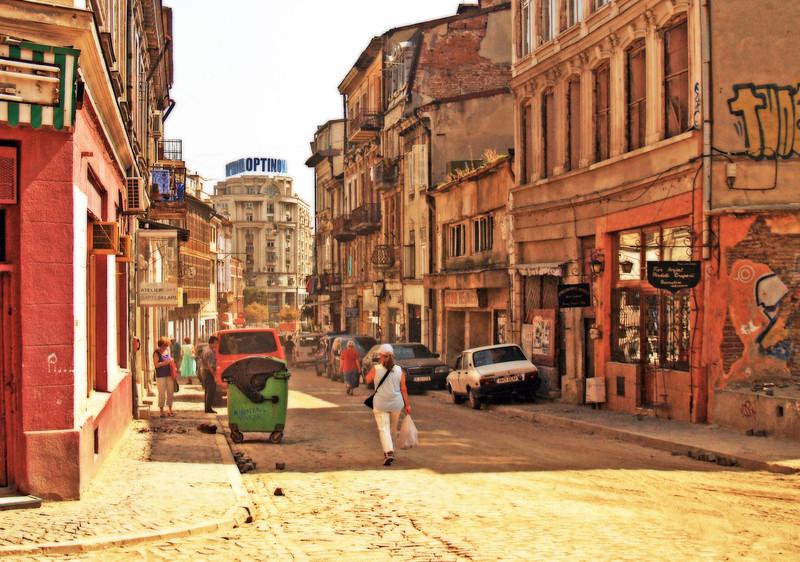 Historic Lipscani District, Bucharest Romania