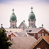 St. Anne's Church - View from Ridge St. Fall River, MA