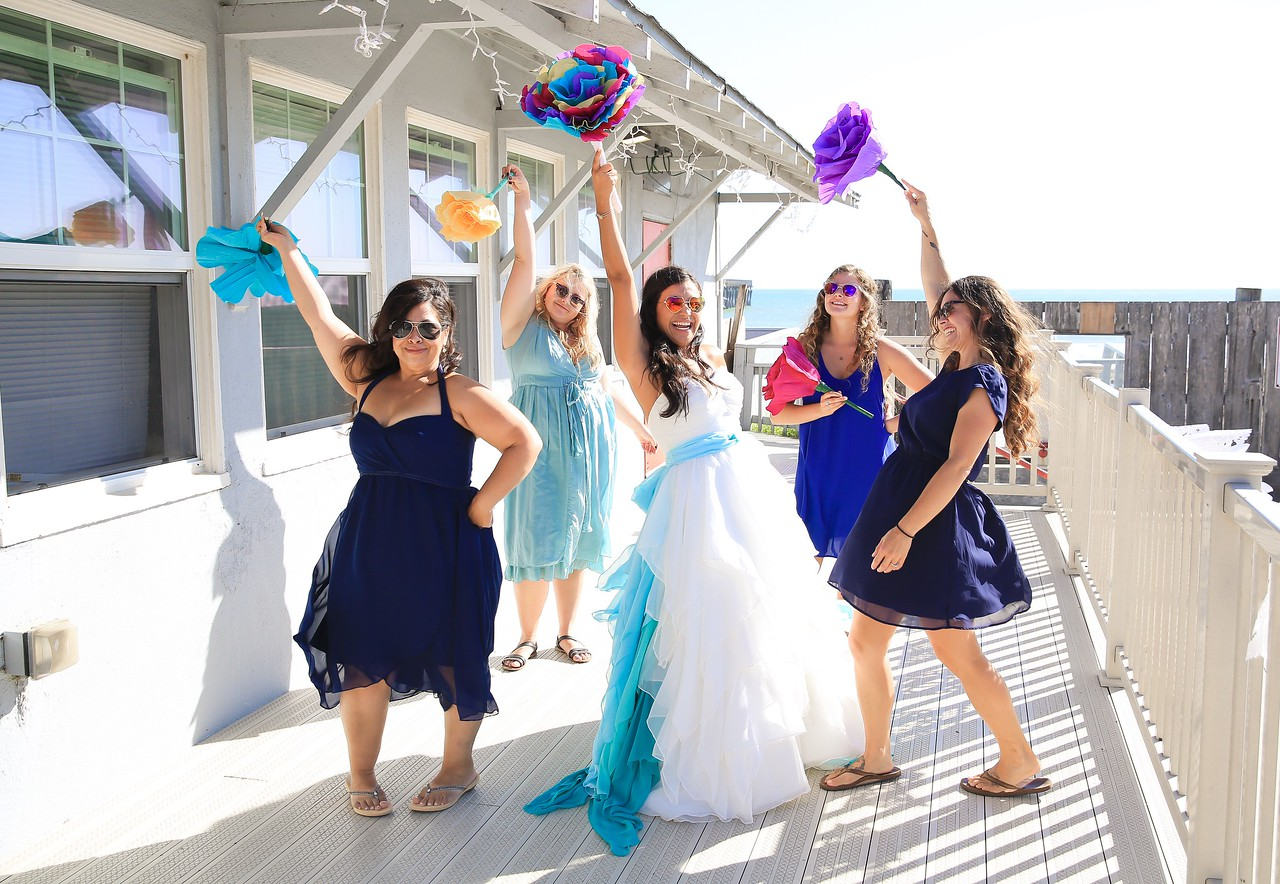 Colorful Beach Wedding and Reception in Cayucos
