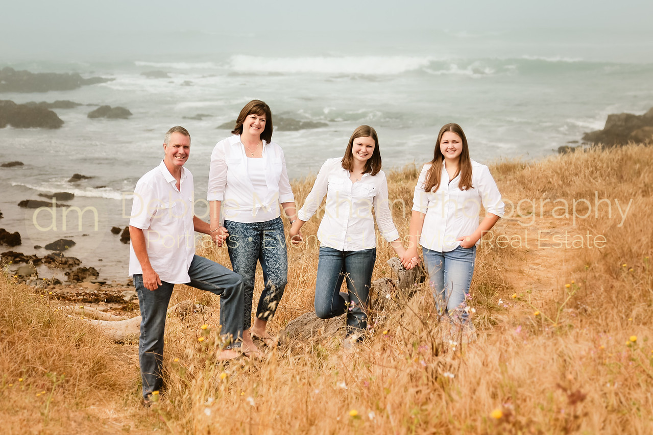 Family Portraits while on vacation in Cambria