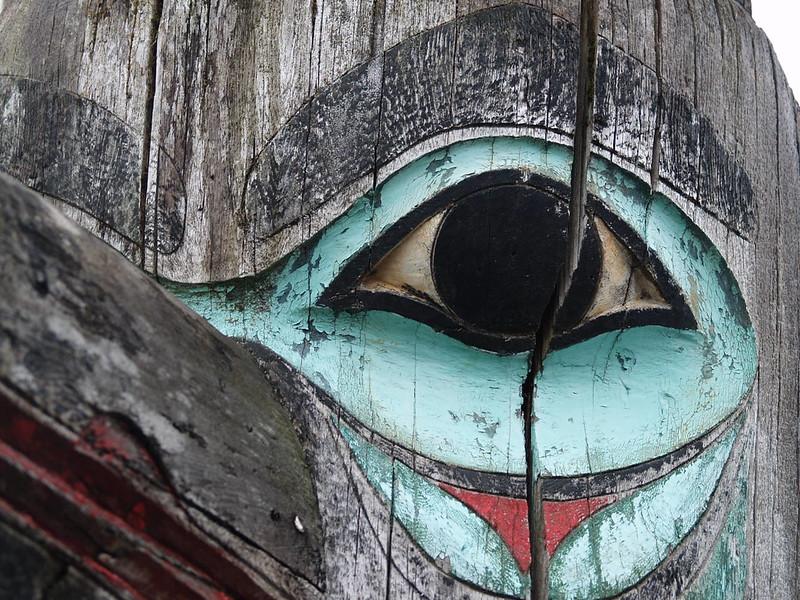 Watchful Ancestor - Raven totem; Saxman Village; Ketchikan, Alaska