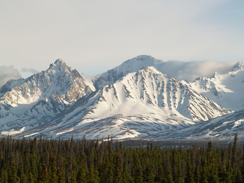 Kluane Mountains; Kluane National Park; Yukon Territory, Canada - the Alaska Highway