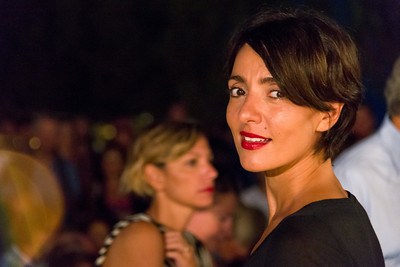 "Italian actress Ambra Angiolini, special guest of ""Una Notte in Italia"", the Tavolara film festival 2013."