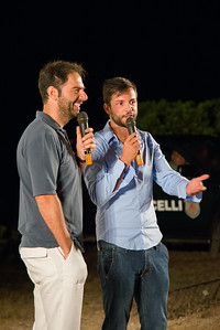 "Neri Marcorè e Matteo Pianezzi, autore e regista del cortometraggio ""smile"" presentato nella prima serata del festival."