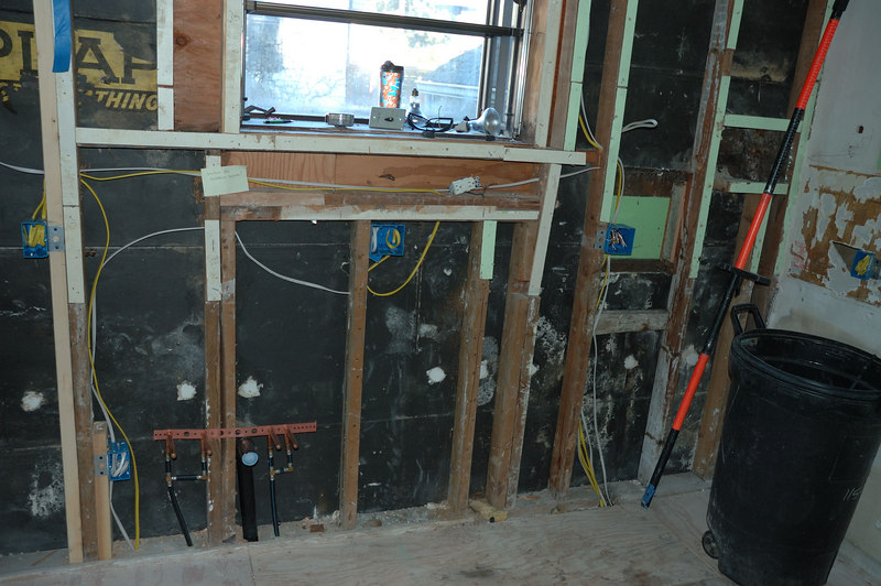New PEX plumbing and new wiring