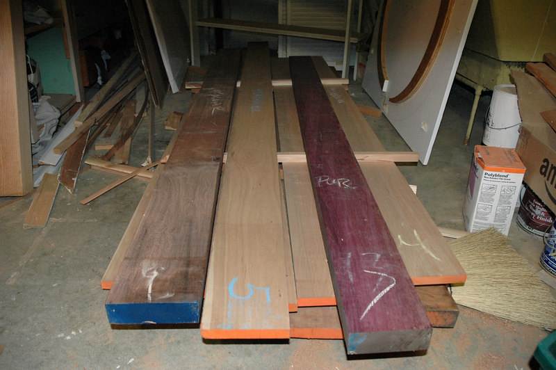 Future dining room table: Walnut, cherry and purpleheart