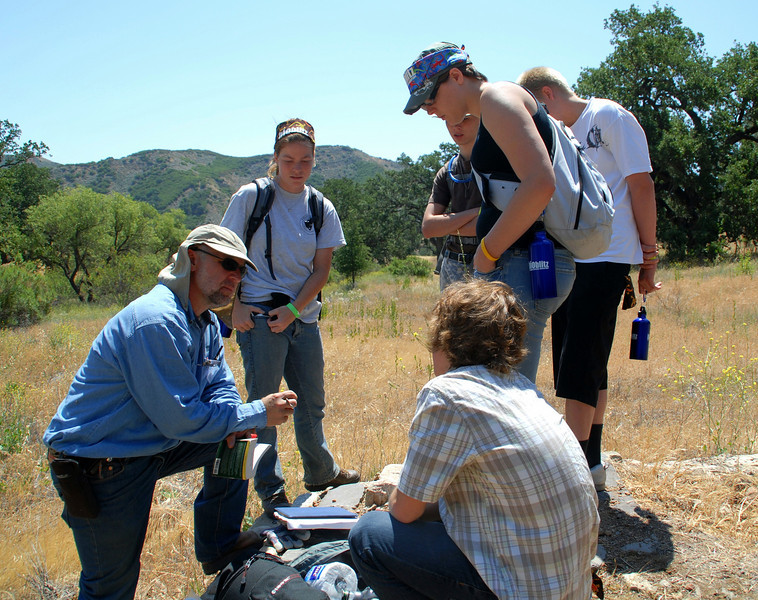 National Geographic Bio-Blitz.<br /> Santa Monica Mountains, CA.  May 2008