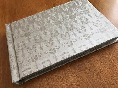 White Floral Wedding Album 8x12
