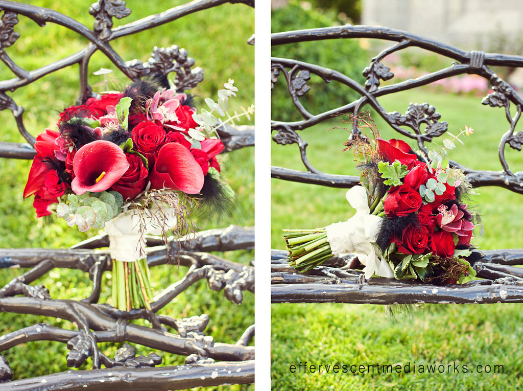 black and red wedding flowers
