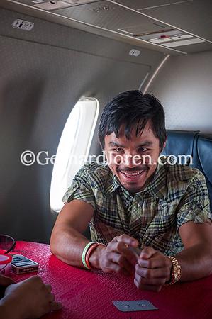 Manny Pacquiao on Chavit Singson's plane 0310-26
