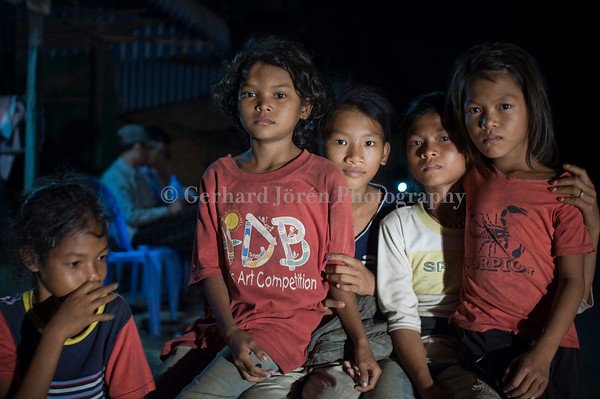 Young girls, 10-14 yrs, at risk being sex workers in Phnom Penh, Cambodia