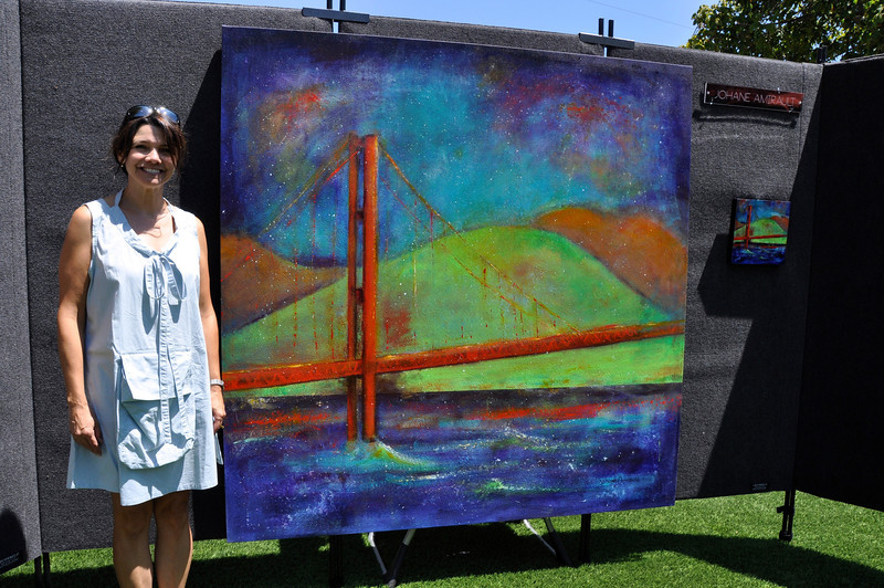 Johane with the Golden Gate Bridge Painting Art on the Green Viewpoints Gallery