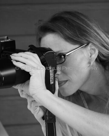 Cheri Loughlin behind the camera.