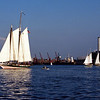"Schooner ""Lady Maryland"" leading the 2000 Great Chesapeake Bay Schooner Race<br /> Nikon N80 35-70AFD Kodak EP Pro 100"