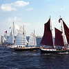 Start of the B and C fleets<br /> 2000 Great Chesapeake Bay Schooner Race<br /> Nikon N80 35-70AFD Kodak EP Pro 100