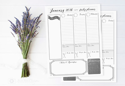2016 Printable Daily Planner