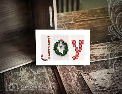 JOY Easel Holiday Decor